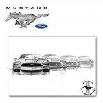 "Plakat A2 Ford Mustang ""Generations"" - 36200371"