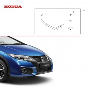 Honda Civic - Chromowana listwa grilla - 08F23-TV0-600A